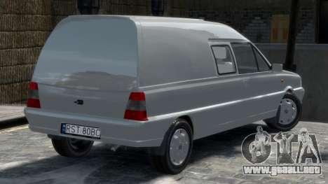Daewoo-FSO Polonez Bella Blindados 2000 para GTA 4 Vista posterior izquierda