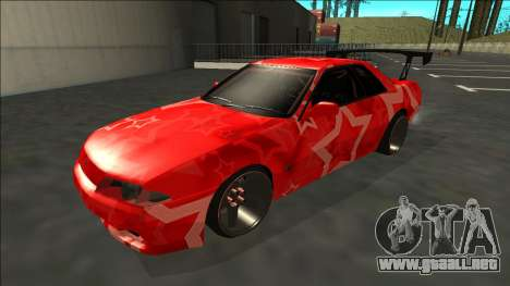 Nissan Skyline R32 Drift Red Star para GTA San Andreas