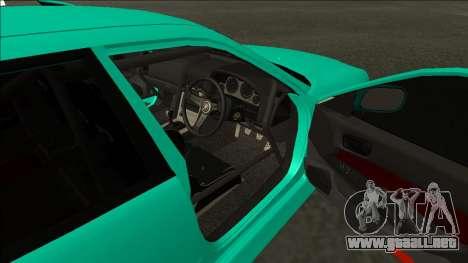 Nissan Skyline ER34 Drift para GTA San Andreas vista hacia atrás