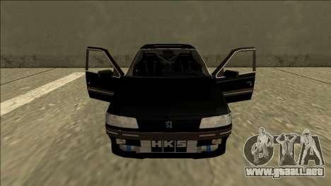 Peugeot 405 Drift para visión interna GTA San Andreas