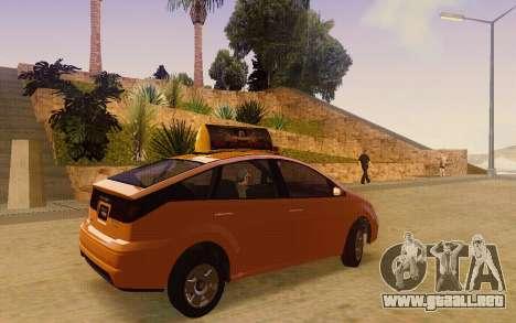Karin Dilettante Taxi para GTA San Andreas vista posterior izquierda