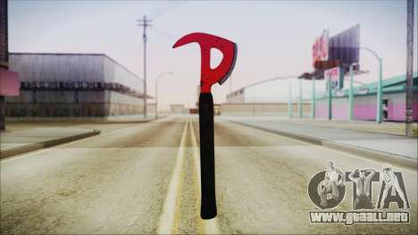 Plane Axe from The Forest para GTA San Andreas segunda pantalla