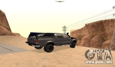 Toyota Hilux 2012 Activa barra led para GTA San Andreas left