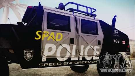 Hummer H1 Police para la visión correcta GTA San Andreas