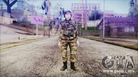 World In Conflict US Marine para GTA San Andreas segunda pantalla