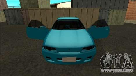 Nissan Skyline R32 Drift para vista inferior GTA San Andreas