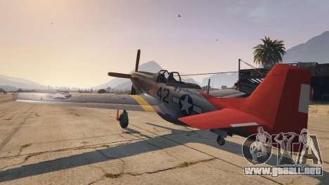 GTA 5 P-51D Mustang tercera captura de pantalla