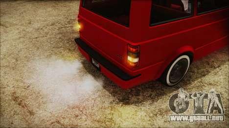 GTA 5 Declasse Moonbeam No Interior IVF para GTA San Andreas vista hacia atrás