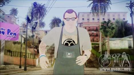 GTA 5 Ammu-Nation Seller 1 para GTA San Andreas