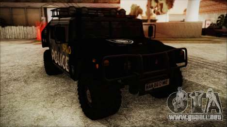 Hummer H1 Police para GTA San Andreas vista posterior izquierda