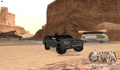 Toyota Hilux 2012 Activa barra led para la visión correcta GTA San Andreas