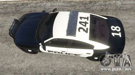 GTA 5 Dodge Charger 2015 LSPD vista trasera