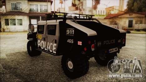 Hummer H1 Police para GTA San Andreas left