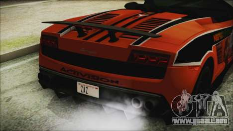 Lamborginhi Gallardo LP-570 Spyder HxH Neferpito para GTA San Andreas vista hacia atrás