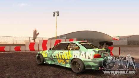 Bmw E36 Plena Sintonía para GTA San Andreas vista posterior izquierda