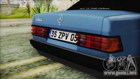 Mercedes-Benz 190E para GTA San Andreas vista hacia atrás