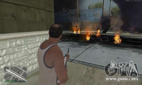 Meteors Mod para GTA San Andreas sucesivamente de pantalla