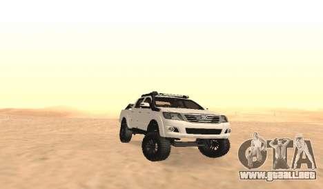 Toyota Hilux 4WD 2015 Rustica para visión interna GTA San Andreas