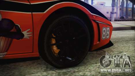 Lamborginhi Gallardo LP-570 Spyder HxH Neferpito para GTA San Andreas vista posterior izquierda