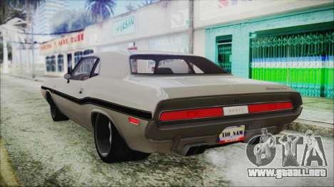 Dodge Challenger RT para GTA San Andreas left