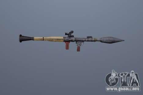 RPG-7 para GTA San Andreas tercera pantalla