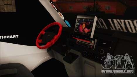Ford Transit 350L para la visión correcta GTA San Andreas