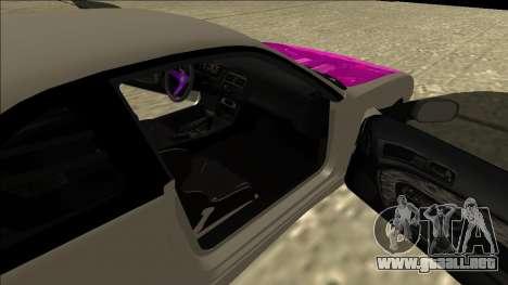 Nissan Silvia S14 Drift para GTA San Andreas vista hacia atrás