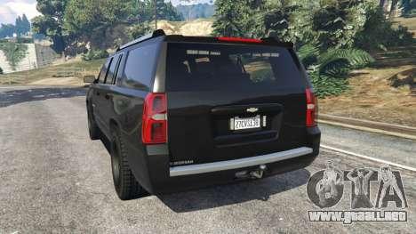 Chevrolet Suburban Police Unmarked 2015 para GTA 5