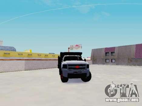 Chevrolet Silverado 3500 HD para GTA San Andreas vista hacia atrás