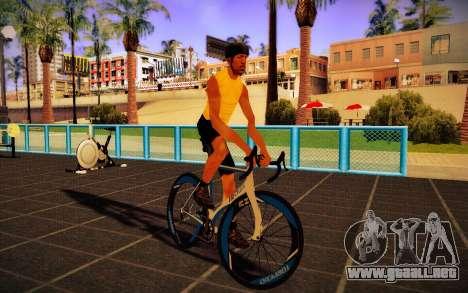 GTA V Tri-Cycles Race Bike para GTA San Andreas vista posterior izquierda