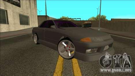 Nissan Skyline R32 Drift Sedan para la visión correcta GTA San Andreas