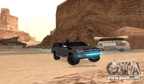 Toyota Hilux 2012 Activa barra led para GTA San Andreas vista hacia atrás