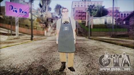 GTA 5 Ammu-Nation Seller 1 para GTA San Andreas segunda pantalla