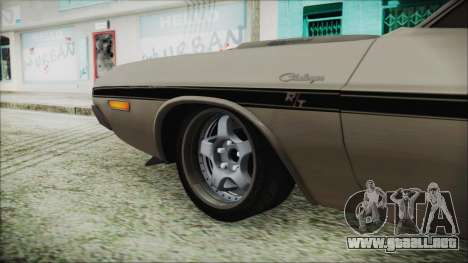 Dodge Challenger RT para GTA San Andreas vista posterior izquierda