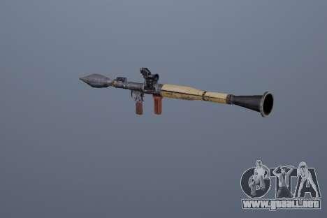 RPG-7 para GTA San Andreas segunda pantalla