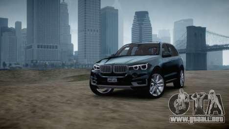 BMW X5 2015 para GTA 4 Vista posterior izquierda