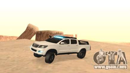 Toyota Hilux 4WD 2015 Rustica para GTA San Andreas