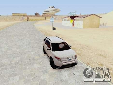 Ford Explorer 2013 Semi-Tuning para GTA San Andreas vista hacia atrás