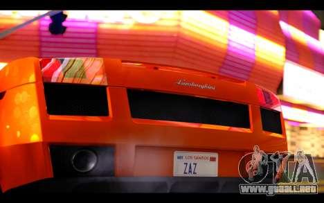 Lamborghini Gallardo para visión interna GTA San Andreas