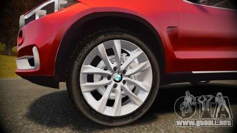 BMW X5 2014 para GTA 4 vista interior