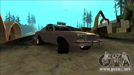 Ford Gran Torino Rusty Rebel para GTA San Andreas vista hacia atrás