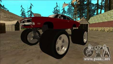Dodge Charger 1969 Monster Edition para GTA San Andreas left