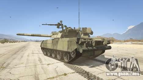 GTA 5 T-80U vista lateral izquierda trasera