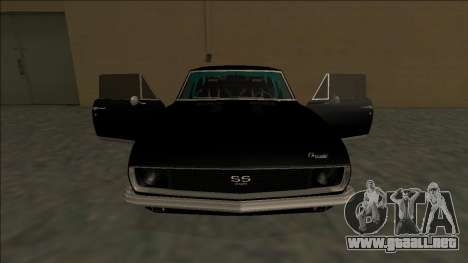 Chevrolet Camaro SS Drift para GTA San Andreas interior