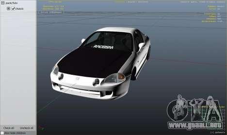 GTA 5 Honda CRX Del Sol vista lateral derecha