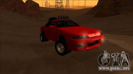Nissan Skyline R32 Rusty Rebel para GTA San Andreas vista hacia atrás
