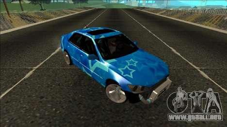 Lexus IS300 Drift Blue Star para visión interna GTA San Andreas