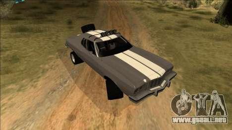 Ford Gran Torino Rusty Rebel para vista inferior GTA San Andreas