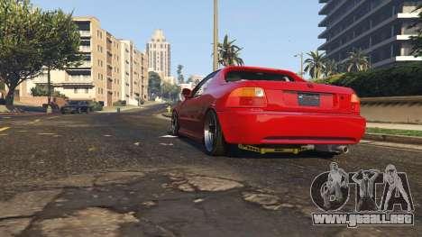 GTA 5 Honda CRX Del Sol vista trasera