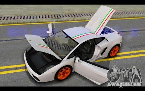 Lamborghini Gallardo para las ruedas de GTA San Andreas